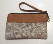 Leather and cowhide clutch - Jersey Hairon and Tan Leather 40% OFF NOW