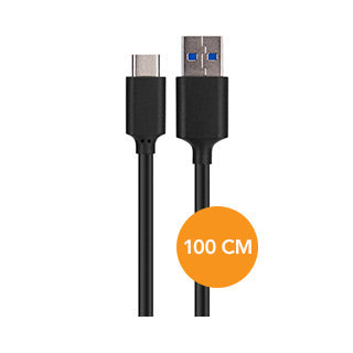Xqisit Black USB-C to USB 3.0 Data Cable - 100cm