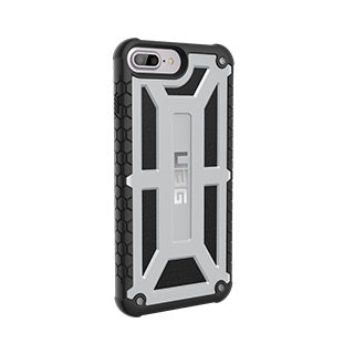 iPhone 8 Plus/7 Plus/6S Plus/6 Plus UAG Silver/Black (Platinum) Monarch Series case