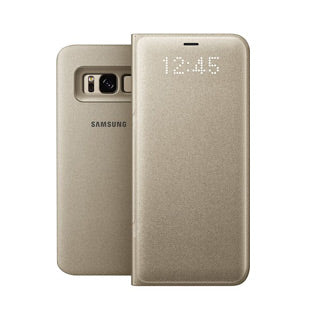 Samsung Galaxy S8 OEM Gold LED View Cover