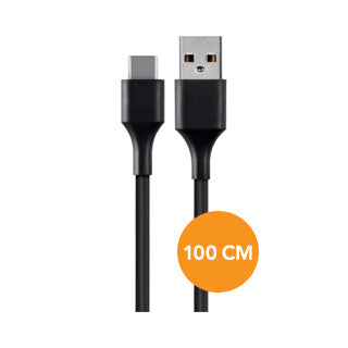 Xqisit Black USB-C to USB 2.0 Data Cable - 100cm