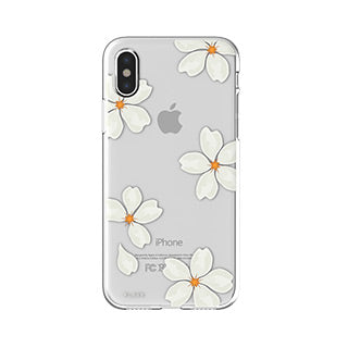 iPhone X/Xs FLAVR White Petals iPlate case