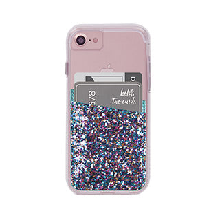 Universal Case-mate Turquoise Glitter ID Pocket