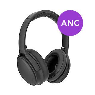 Xqisit Black OE400 Active Noise Cancelling Over-the-Ear Bluetooth Headphones