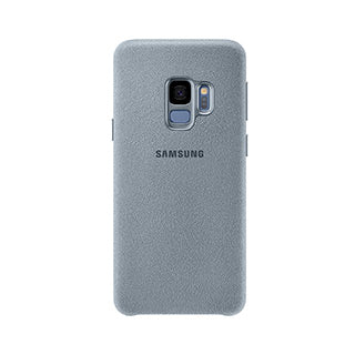 Samsung Galaxy S9 OEM Grey/Light Blue Alcantara Cover