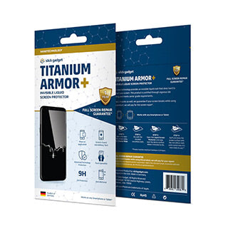 Slick Gadget Titanium Armor Plus Liquid Screen Protector with full  screen replacement warranty