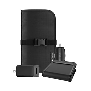 mophie black wireless charge stream travel kit