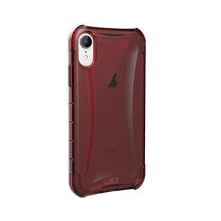 iPhone XR UAG Dark Red/Clear (Crimson) Plyo Series case