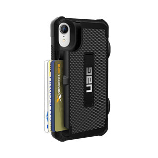 iPhone XR UAG Black Trooper Series Card case