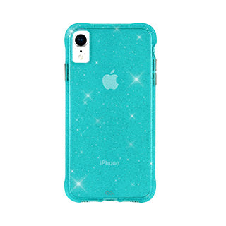 iPhone XR Case-mate Teal Sheer Crystal case