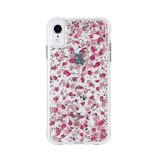 iPhone XR Case-mate Pink Ditsy Real Flower Petals case