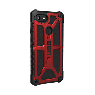 Google Pixel 3 XL UAG Red/Black (Crimson) Monarch Series case