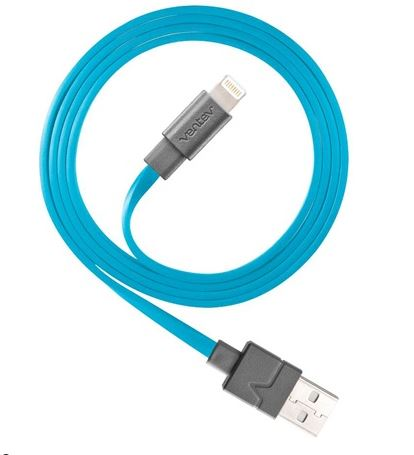 Ventev  512062 Charge/Sync Cable Lightning 3.3ft Blue