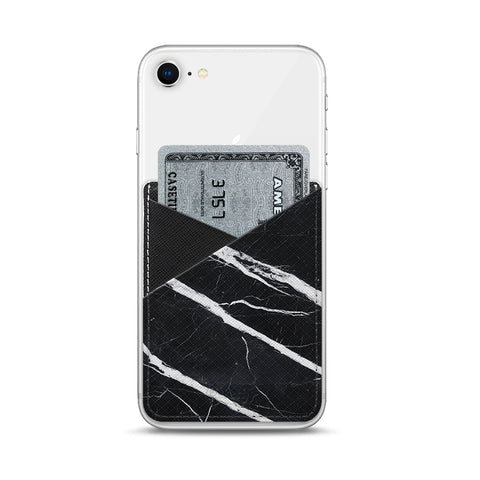 Casetify  CTF2450067458600 Saffiano Leather Pocket Black Marble