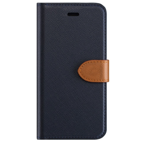 Blu Element  B21S8EBL 2 in 1 Folio Galaxy S8+ Blue/Tan