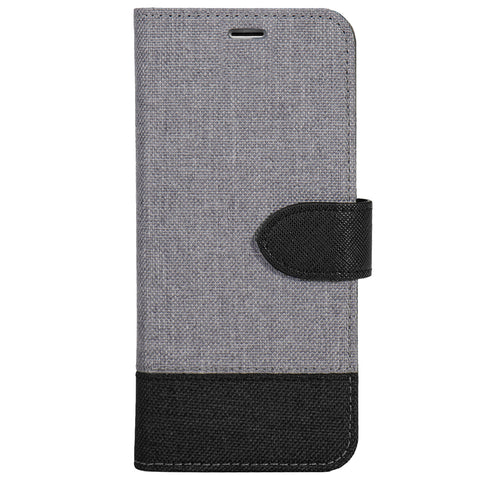 Blu Element  B21I7PBB 2 in 1 Folio iPhone 8+/7+/6S+/6+ Grey/Black Bottom