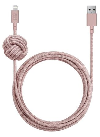 Native Union  NCABLEKVLROSE Night Cable Lightning 10ft Rose