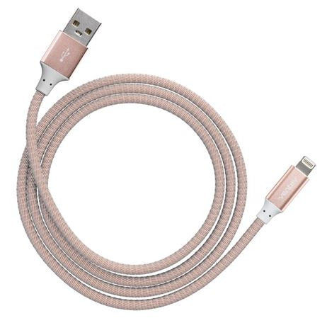 Ventev  554609 Charge/Sync Metallic Cable Lightning 4ft Rose Gold