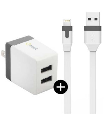 Muvit  MUPAK0315 Wall Charger Lightning 3.4A w/Extra USB White