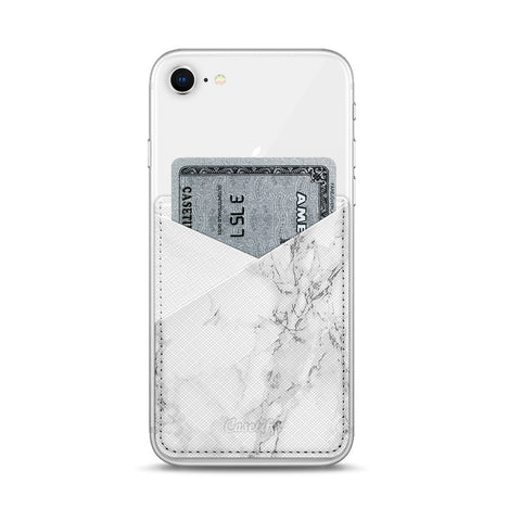 Casetify  CTF3954541458600 Saffiano Leather Pocket White Marble