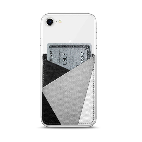 Casetify  CTF2674211458600 Saffiano Leather Pocket Black White Grey
