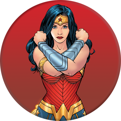 PopSockets  101576 Grip Stand Wonder Woman (English Only Packaging)
