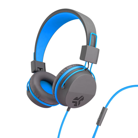 JLab Audio  IFCHNEONRGRYBLU4 Neon On-Ear Headphones Blue/Grey