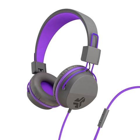 JLab Audio  IFCHNEONRGRYPRPL4 Neon On-Ear Headphones Purple/Grey