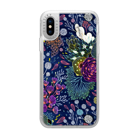 Casetify  CTF34042336311800 Grip Case iPhone XS/X Dark Floral
