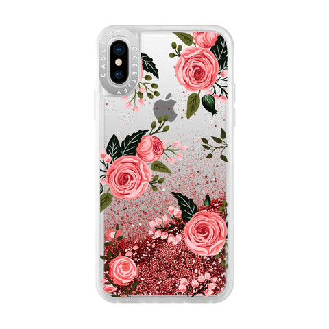 Casetify  CTF41395906511802 Glitter Case iPhone XS/X Pink Roses
