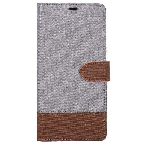 Blu Element  B21S9GBT 2 in 1 Folio-2 Tone Galaxy S9 Grey/Brown