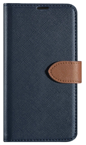 Blu Element  BSPPLNV Simpli Folio iPhone 8+/7+/6S+/6+ Navy/Tan
