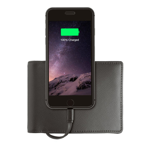 Nomad  Wallet with Power Bank 2400 mAh Lightning Black