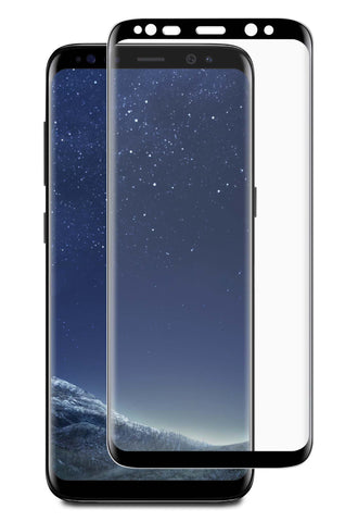 Blu Element  BTGGS8PCB 3D Curved Glass Case Friendly Galaxy S8+ Black