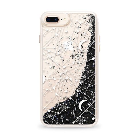 Casetify  CTF4091113530705 Glitter iPhone 8+/7+6S+/6+ Sun and Stars