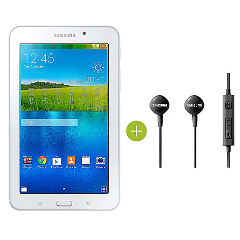 "Combo Tablet 7"" WiFi 8 GB Blanca+Aud'___fonos"