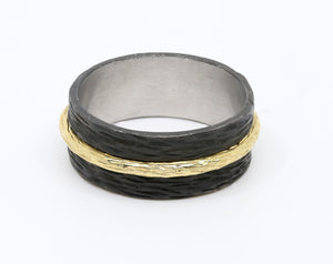 Black Cobalt and Gold Band