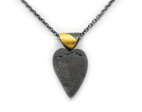 Hematite Heart Necklace