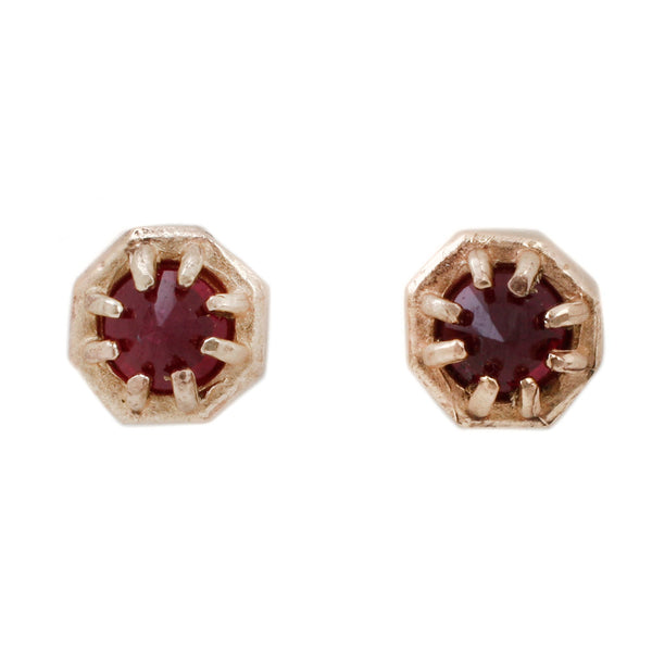 Small Ruby Studs