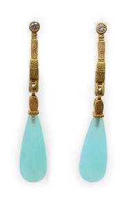 Opal Tear Drop Earrings