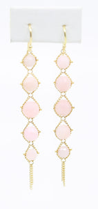Pink Opal Drop Earrings