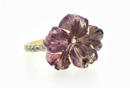 Purple Tourmaline Flower Ring