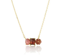 Red Tourmaline and Sapphire Necklace