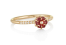 Red Tourmaline Blossom Ring