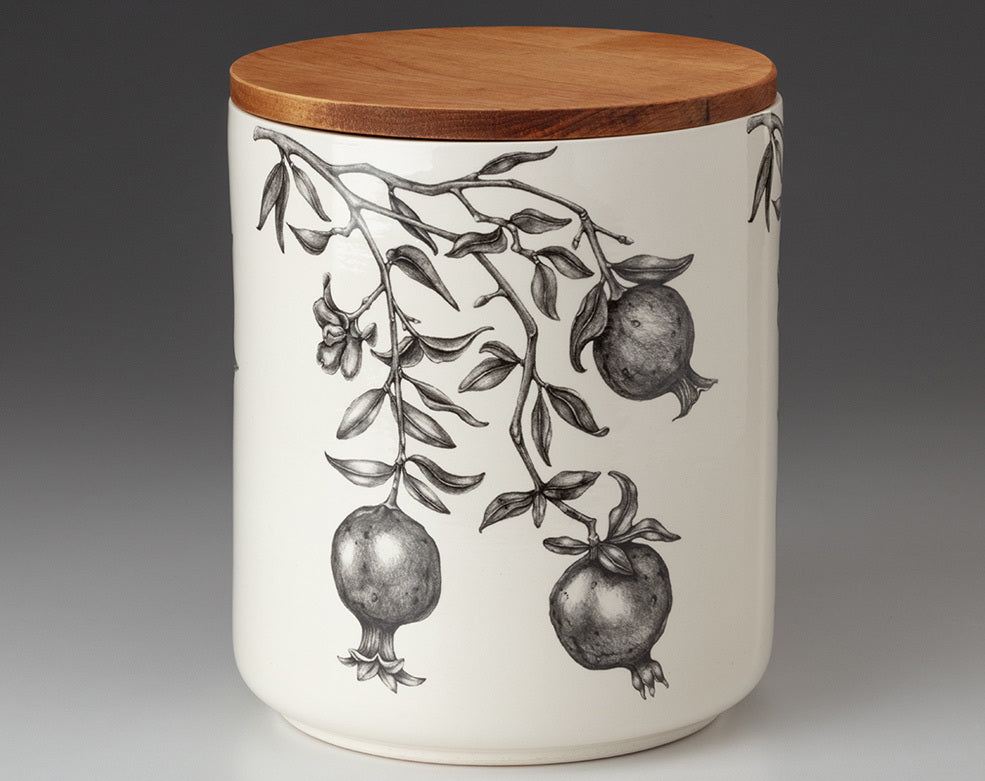 Large Canister with Lid - Pomegranate