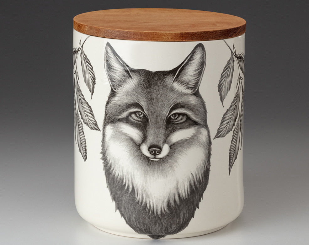 Large Canister with Lid - Fox