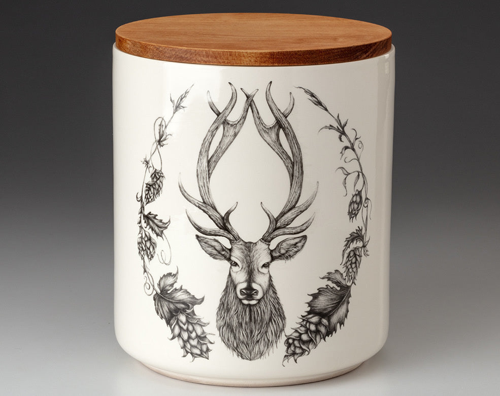 Large Canister with Lid - Stag
