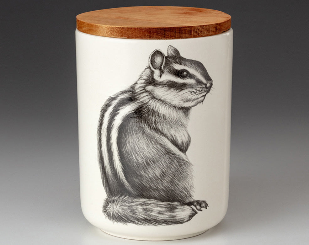 Medium Canister with Lid - Chipmunk