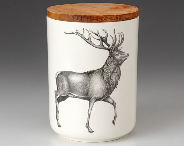 Medium Canister with Lid - Stag