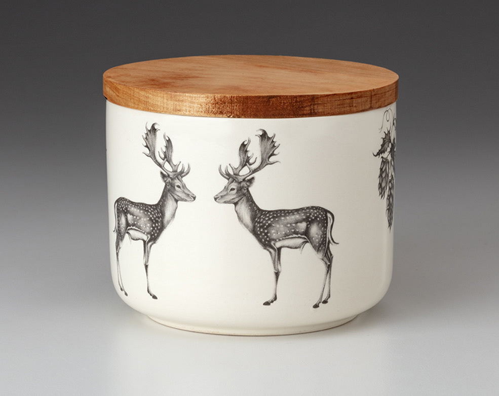 Mini Canister with Lid - Fallow Buck
